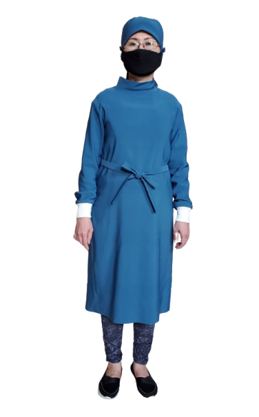 Laday Gown with Knitting Cuff