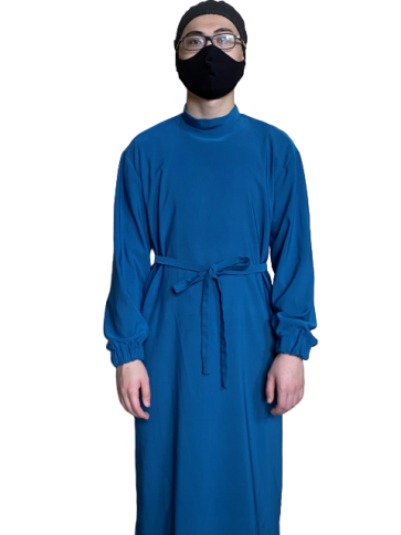 Men Gown with Elastic Cuff