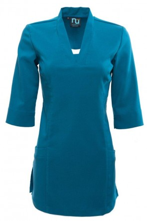 NU V NECK- SQUARE POCKET 3/4 LENGTH SLEEVE
