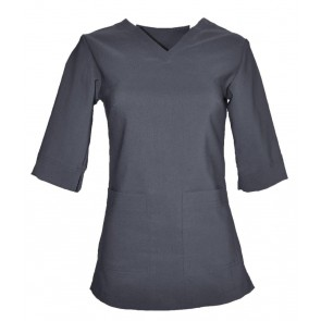 PULL OVER NECK-SIDE POCKET 3/4 LENGTH SLEEVE