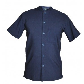 MEN SHIRT TOP /MADARIN COLLAR BUTTON CLOSURE CLOSURE