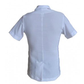 MEN LONG LAB SHORT SLEEVE BUTTON CLOSURE